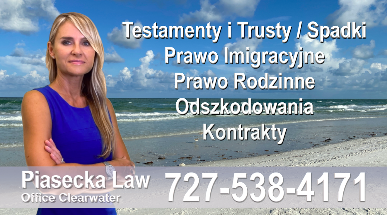 Florida, Polish, Attorney, Lawyer, Polski, Prawnik, Adwokat, Floryda, USA, Agnieszka Piasecka, Aga Piasecka, Piasecka, Sarasota, Polscy prawnicy adwokaci
